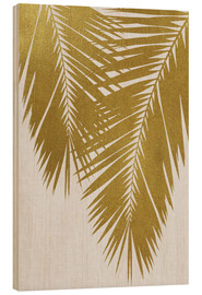 Wood print  Palm Leaf Gold II - Orara Studio