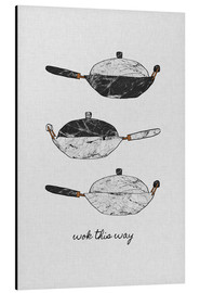 Aluminium print  Wok This Way - Orara Studio
