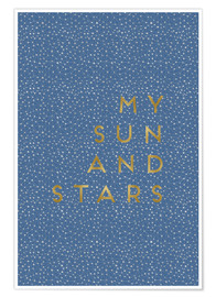 Premium poster  My Sun And Stars - Orara Studio