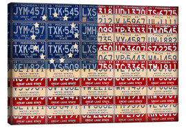 Canvas print  License Plate American Flag Betsy Ross Edition - Design Turnpike