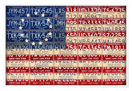 Premium poster License Plate American Flag Betsy Ross Edition