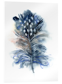 Acrylic glass  Feather blue - Verbrugge Watercolor