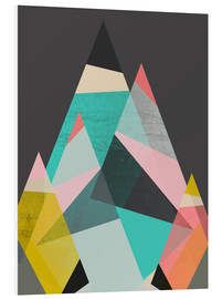 Foam board print  GEO MOUNTAINS - Susana Paz