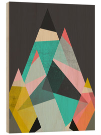 Wood print  GEO MOUNTAINS - Susana Paz