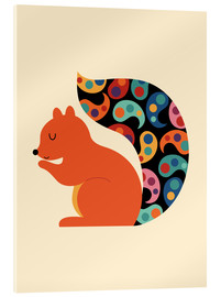 Acrylic print  Paisley Squirrel - Andy Westface