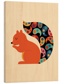 Wood  Paisley Squirrel - Andy Westface