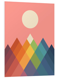 Foam board print  Rainbow Peak - Andy Westface