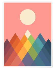 Poster  Rainbow Peak - Andy Westface