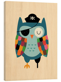 Wood print  Captain Whooo - Andy Westface