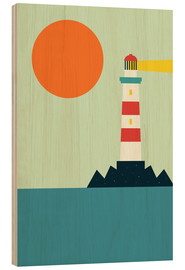 Wood print  Lighthouse - Andy Westface
