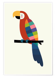 Poster Rainbow Parrot
