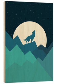 Wood print  Keep The Wild In You - Andy Westface