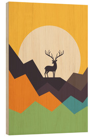 Wood print  Deer - Andy Westface