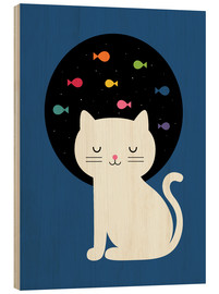 Wood print  Cats Fantasy - Andy Westface