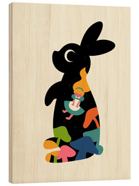 Wood print  Alice - Andy Westface