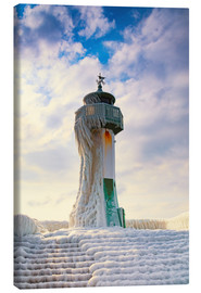 Canvas  Frozen Lighthouse - Simone Splinter