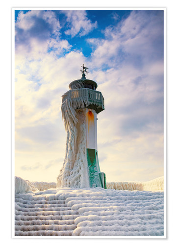 Premium poster Frozen Lighthouse