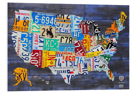 Forex  License plate map of the USA - Design Turnpike