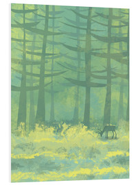 Foam board print  Glade with deer - Nic Squirrell