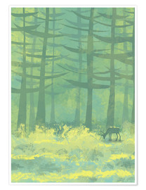Poster  The Clearing in the Forest - Nic Squirrell