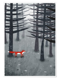 Premium poster The fox and the forest