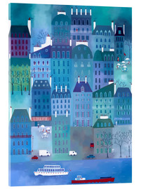 Acrylic glass  Paris Blues Painting - Nic Squirrell