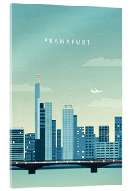 Acrylic print  Illustration of Frankfurt - Katinka Reinke