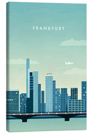 Canvas  Frankfurt illustration - Katinka Reinke