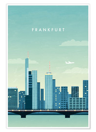 Premium poster  Illustration of Frankfurt - Katinka Reinke