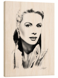 Wood print  Hollywood diva - Grace Kelly - Dirk Richter