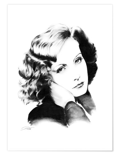 Premium poster Hollywood Diva - Greta Garbo