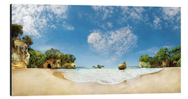 Aluminium print  Cathedral Cove Beach with Heart Cloud - New Zealand - Michael Rucker
