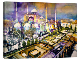 Canvas print  Istanbul, view to the Hagia Sophia mosque - Johann Pickl
