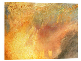 Acrylic print  Burning of the Houses - Joseph Mallord William Turner
