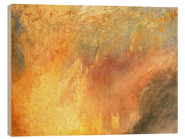Wood print  Burning of the Houses - Joseph Mallord William Turner