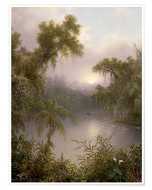 Premium poster  South American River - Martin Johnson Heade