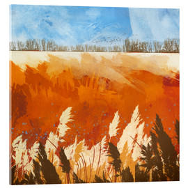 Acrylic print  Golden afternoon - SpaceFrog Designs