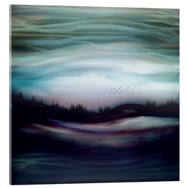 Acrylic glass  Blue Abyss Landscape - SpaceFrog Designs