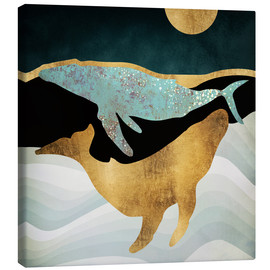 Canvas print  The song of the whales - SpaceFrog Designs