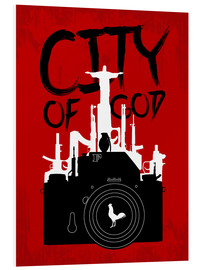 Foam board print  City of God - Minimal Movie Fanart Alternative - HDMI2K