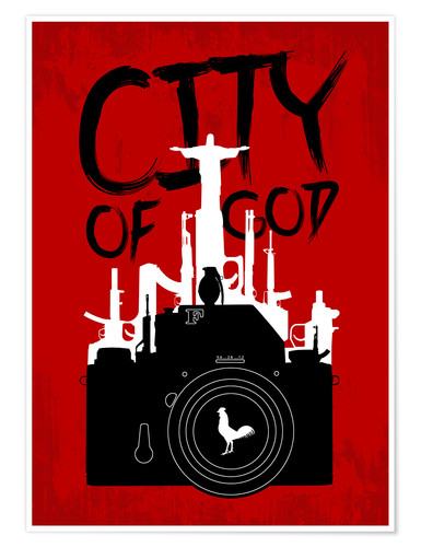 Premium poster City of God - Minimal Movie Fanart Alternative