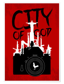 Premium poster  City of God - Minimal Movie Fanart Alternative - HDMI2K