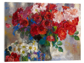 Acrylic print  red roses - Augusto Giacometti