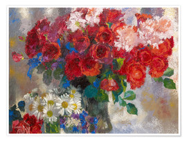 Poster  red roses - Augusto Giacometti