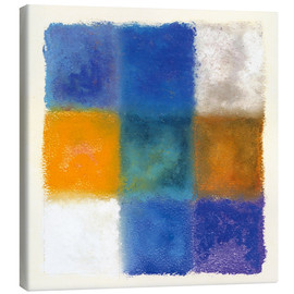 Canvas  Abstraction in white, orange and blue - Augusto Giacometti