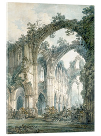 Acrylic glass  interior of tintern abbey monmouthshire - Joseph Mallord William Turner