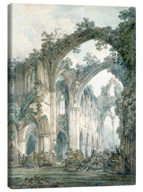 Canvas print  Interior of Tintern Abbey in Monmouthshire - Joseph Mallord William Turner