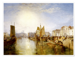 Premium poster  The Harbor of Dieppe - Joseph Mallord William Turner