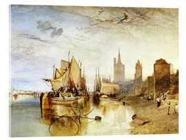 Acrylic print  Cologne, the arrival of a post boat - Joseph Mallord William Turner