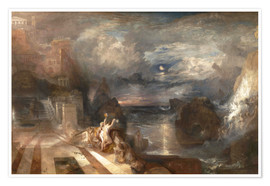 Premium poster  The Parting of Hero and Leander - Joseph Mallord William Turner